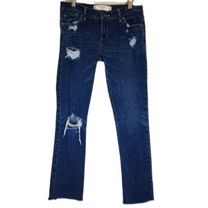 Abercrombie & Fitch Straight Leg Distressed Jeans